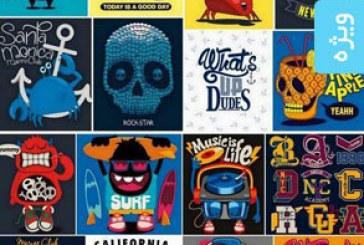 دانلود وکتور طرح های تی شرت – شماره 3