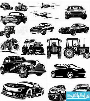 وکتور های وسایل نقلیه و حمل و نقل - طرح سایه