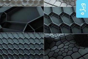 دانلود تکسچر های 3 بعدی انتزاعی خاکستری