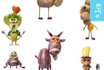 تصاویر استوک ساخت حیوان با سبزیجات و صیفی جات