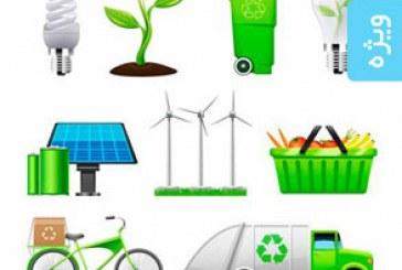 دانلود آیکون های اکو سیستم و محیط زیست