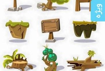 دانلود وکتور های عناصر بازی کارتونی – شماره 2