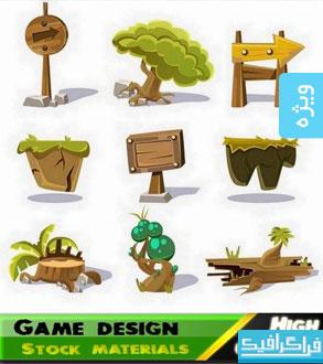 دانلود وکتور های عناصر بازی کارتونی - شماره 2