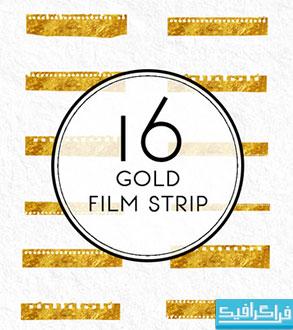 دانلود فایل لایه باز نوار فیلم های طلایی