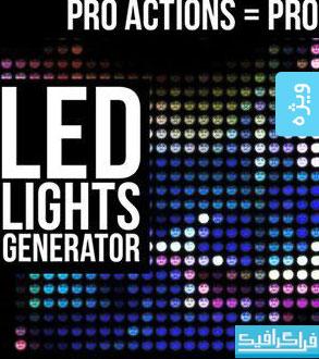 دانلود اکشن فتوشاپ ساخت نور های LED