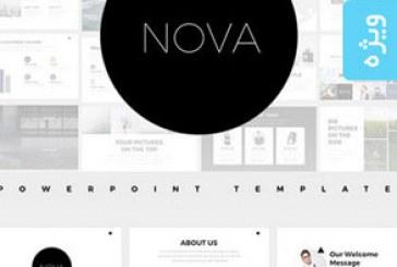 دانلود قالب پاورپوینت – طرح مینیمال – Nova