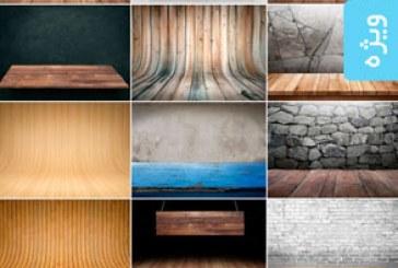 تصاویر استوک پس زمینه های چوبی برای نمایش محصول