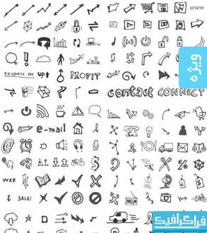 دانلود آیکون های تجاری ترسیمی - Business Doodles