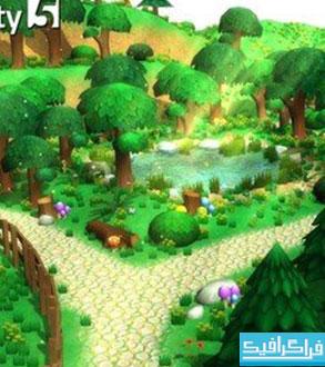 دانلود مدل های 3 بعدی جنگل کارتونی