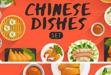 دانلود وکتور غذا های چینی – Chinese Food