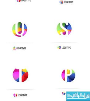 دانلود لوگو های رنگارنگ حروف انگلیسی