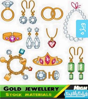 دانلود وکتور های طلا و جواهرات