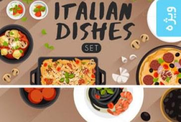 دانلود وکتور غذا های ایتالیایی – Italian Food