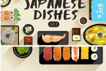 دانلود وکتور غذا های ژاپنی – شماره 2