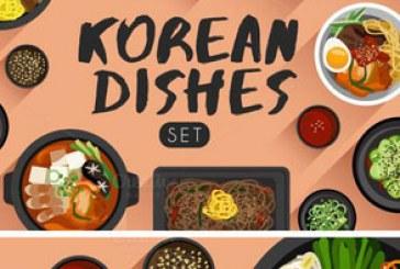 دانلود وکتور غذا های کره ای – Korean Food