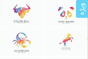 دانلود لوگو های رنگارنگ حیوانات – Colorful Animal Logos