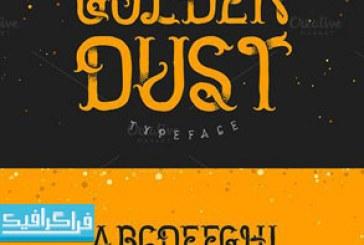 دانلود فونت انگلیسی هنری Golden Dust