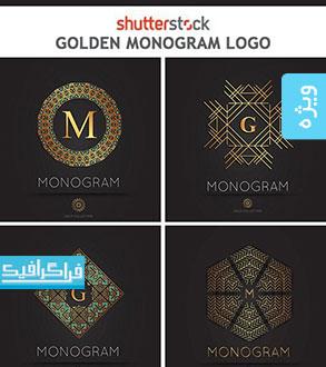 دانلود لوگو های مونوگرام طلایی