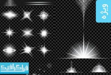 دانلود وکتور افکت های نور درخشان – شماره 2