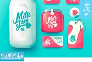 دانلود وکتور های محصولات شیر – Milk Products