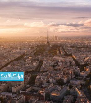 دانلود والپیپر شهر پاریس - نمای پانوراما