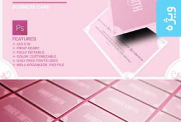 دانلود کارت ویزیت صورتی – Pink Business Card