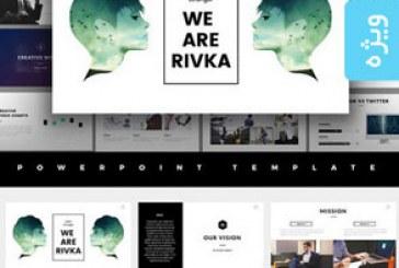 دانلود قالب پاورپوینت طراحی مینیمال Rivka