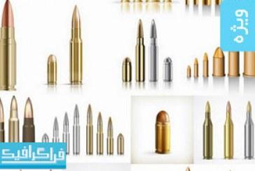 دانلود وکتور های گلوله اسلحه – Bullets Vector