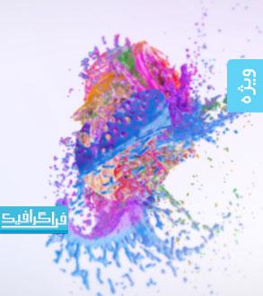 پروژه افتر افکت نمایش لوگو - طرح پاشیده شدن رنگ ها