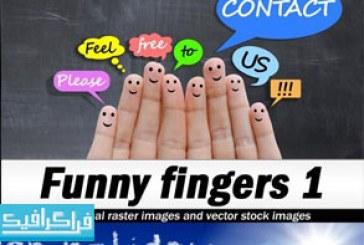دانلود تصاویر استوک انگشت دست بامزه