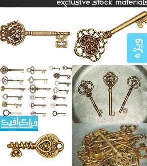 دانلود تصاویر استوک کلید های طلایی قدیمی