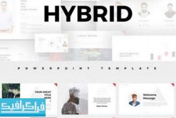 دانلود قالب پاورپوینت طراحی مینیمال Hybrid