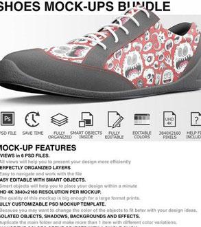 ماک آپ فتوشاپ کفش کتانی - شماره 2
