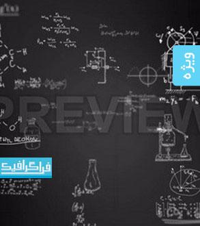 دانلود ویدئو فوتیج حرکت فرمول های علمی