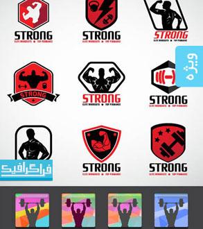 لوگو های باشگاه بدنسازی و تناسب اندام - شماره 2