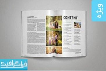 فایل لایه باز ایندیزاین قالب مجله – شماره 6