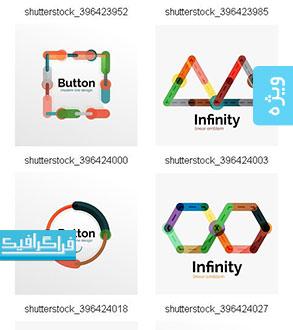 دانلود وکتور علامت های رنگارنگ انتزاعی