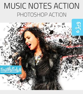 دانلود اکشن فتوشاپ نت موسیقی - Music Notes