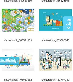 دانلود وکتور طرح های شهر هوشمند