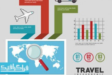 دانلود وکتور طرح های مسافرت – مفهومی