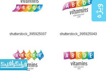 دانلود وکتور طرح های ویتامین – مفهومی