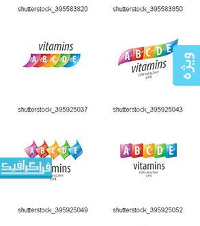 دانلود وکتور طرح های ویتامین - مفهومی