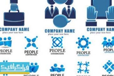 دانلود لوگو های انسان – طرح آبی رنگ