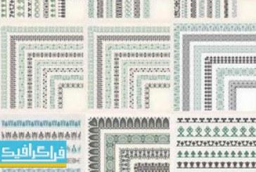 دانلود وکتور حاشیه های تزئینی – Decorative Borders