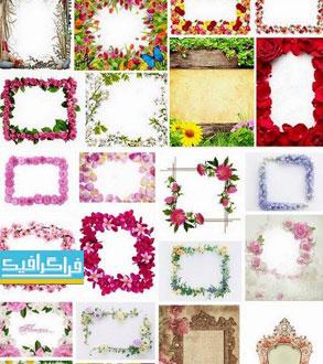 دانلود تصاویر استوک قاب های گلدار