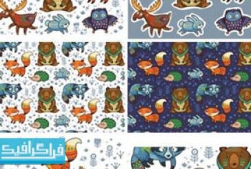 دانلود وکتور حیوانات جنگل – طرح کارتونی