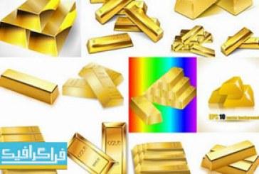 دانلود وکتور های شمش طلا
