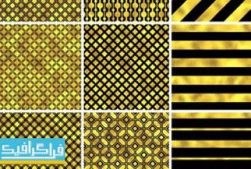 دانلود وکتور پترن های طلایی – Gold Patterns