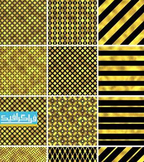 دانلود وکتور پترن های طلایی - Gold Patterns
