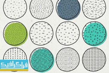 پترن های فتوشاپ اشکال رسم شده با دست – شماره 2